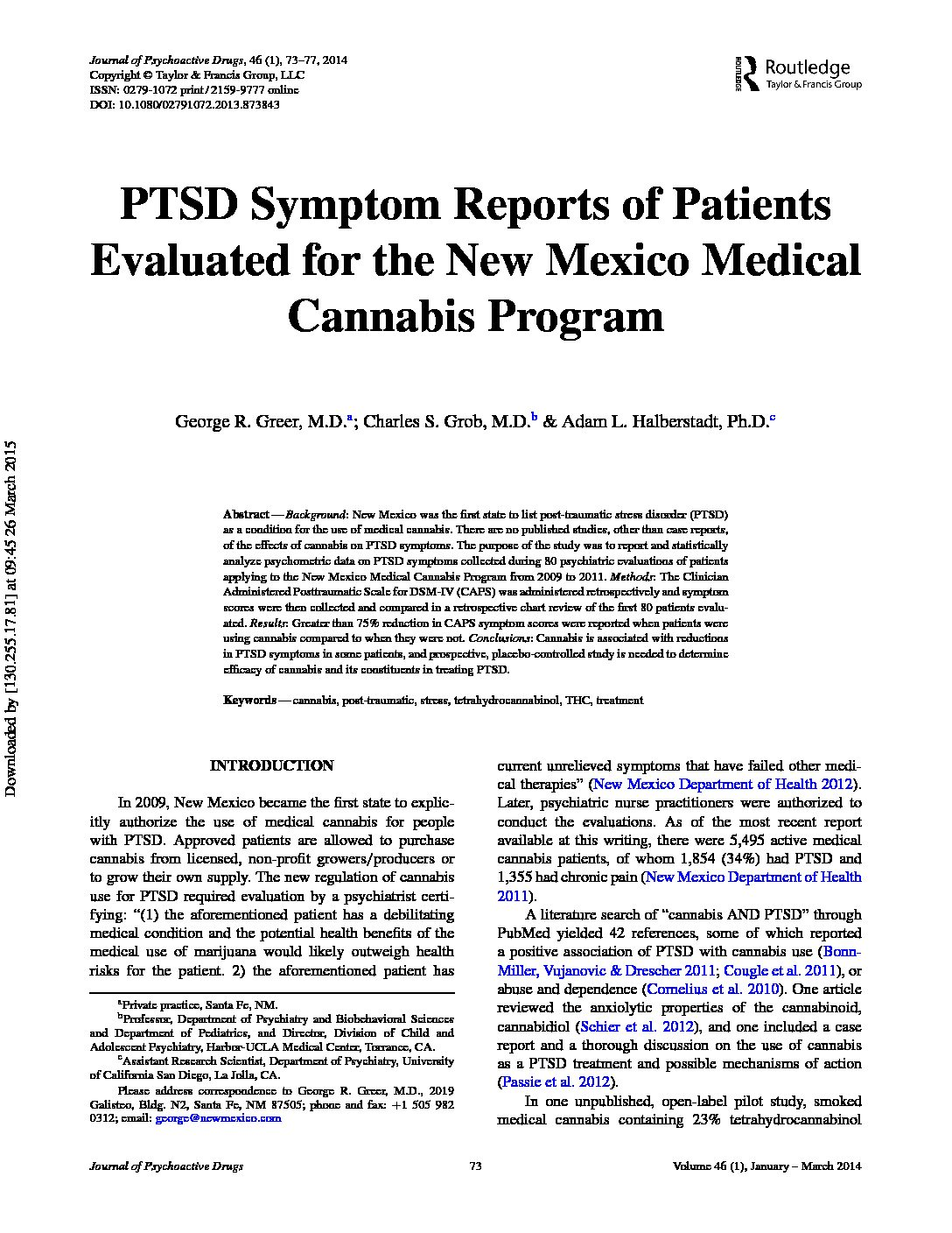 research paper on medical cannabis Medical marijuana, a highly controversial issue in today's society, is at the forefront of both cultural and medical discourse despite federal restrictions against the use of the illicit drug, roughly 14% of americans have tried it at least once in their lives.